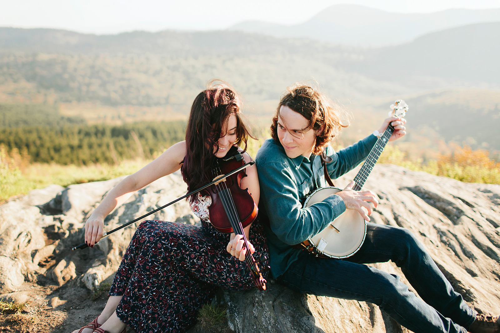musician engagement photos