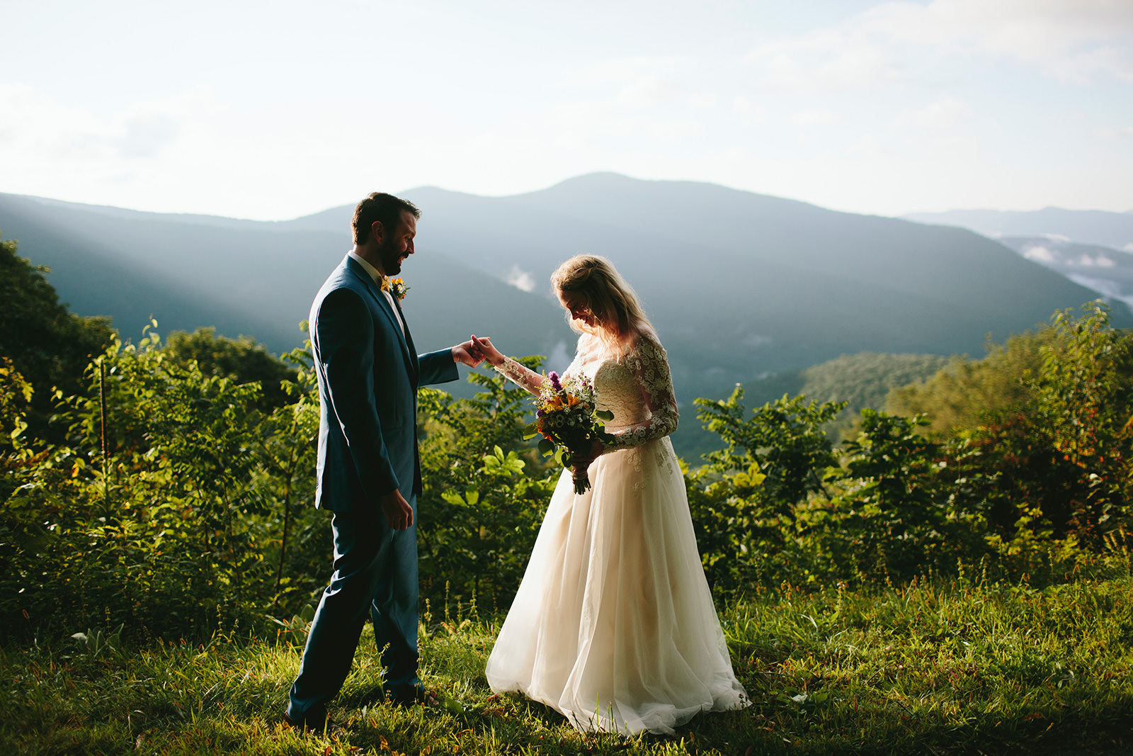 blue ridge parkway elopement photos