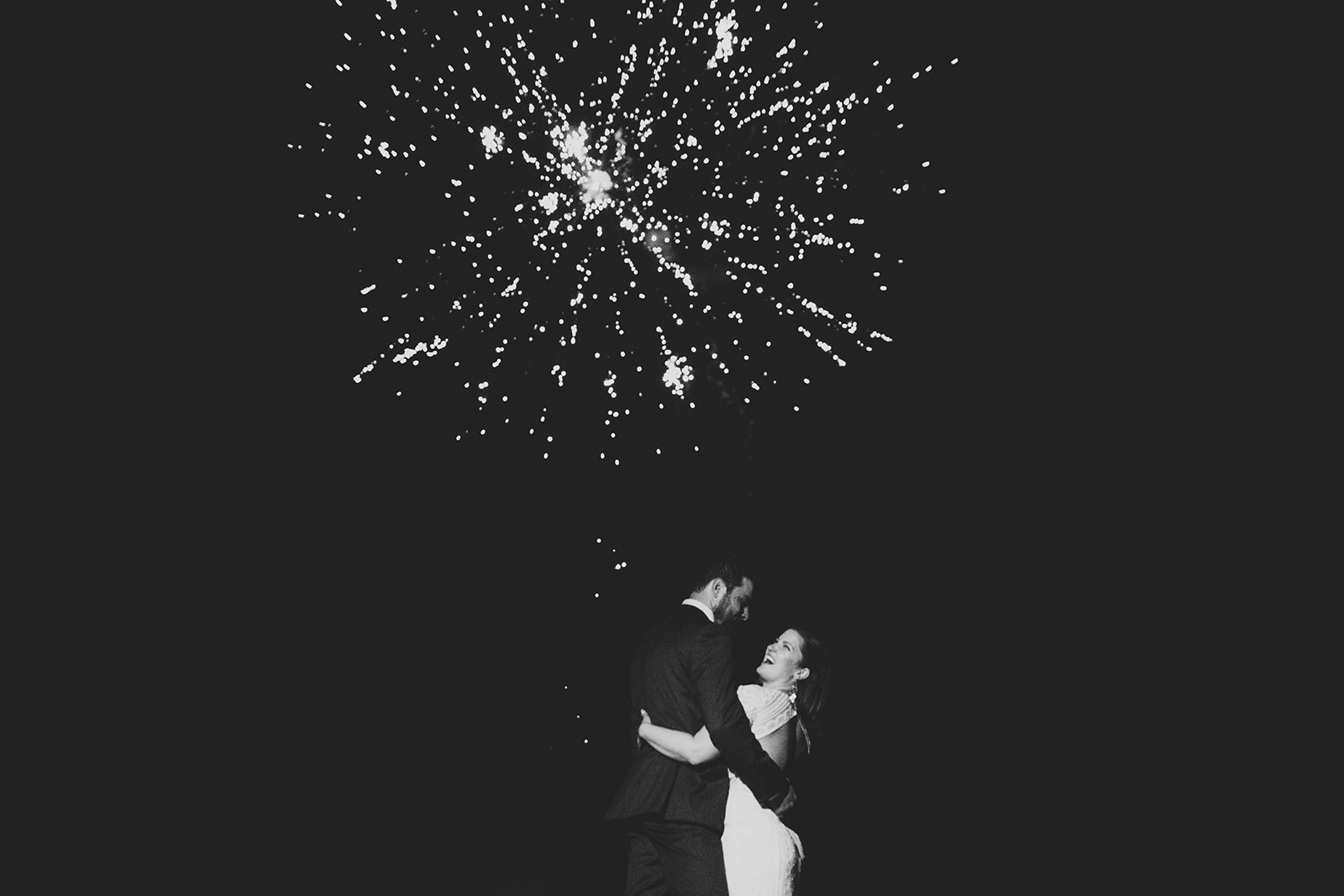 firework wedding photos