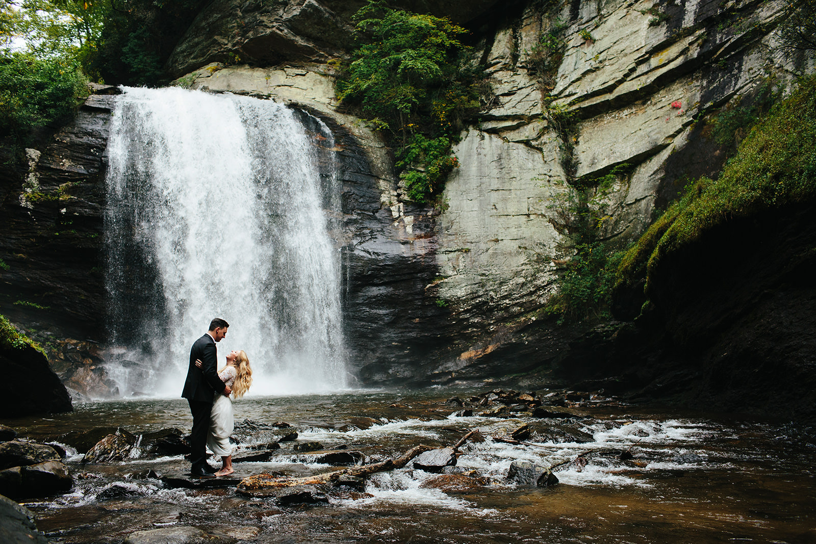 looking glass falls elopement