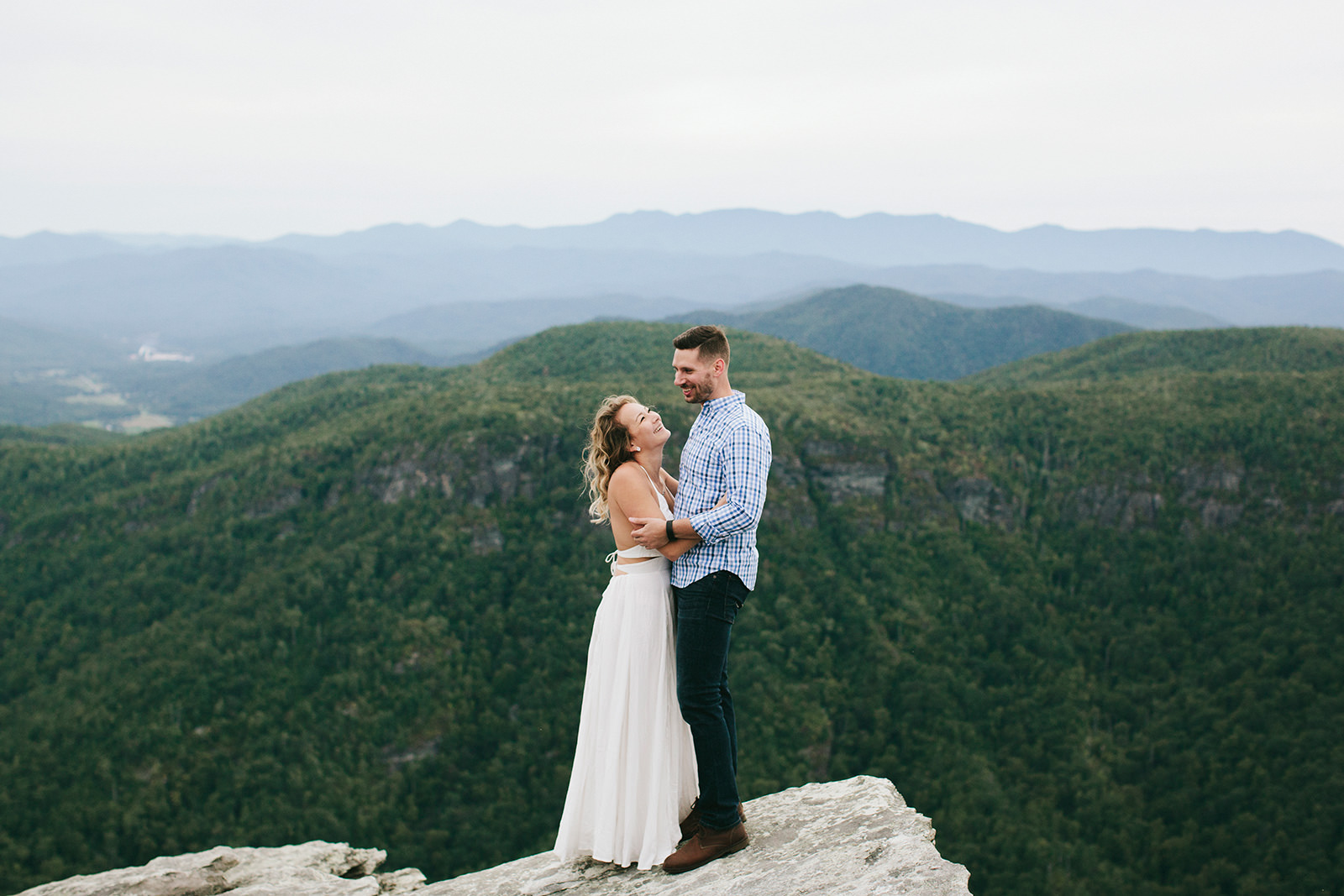 linville gorge engagement photos