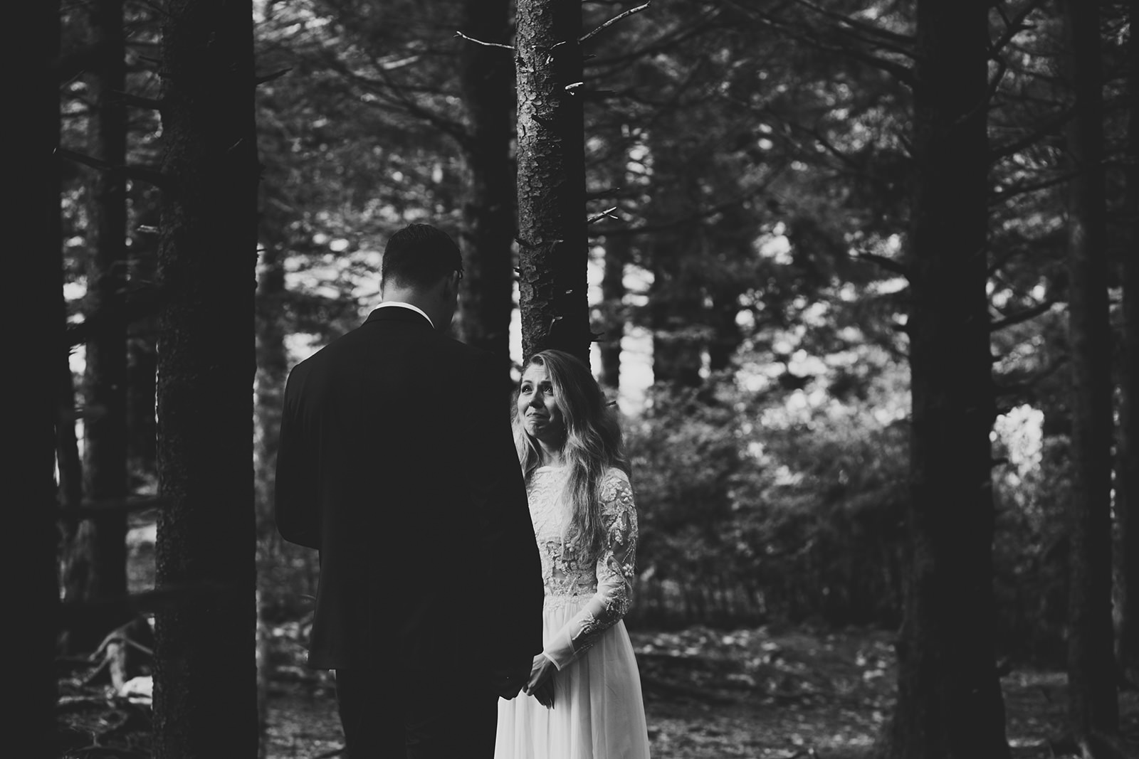 elopement in a forest asheville