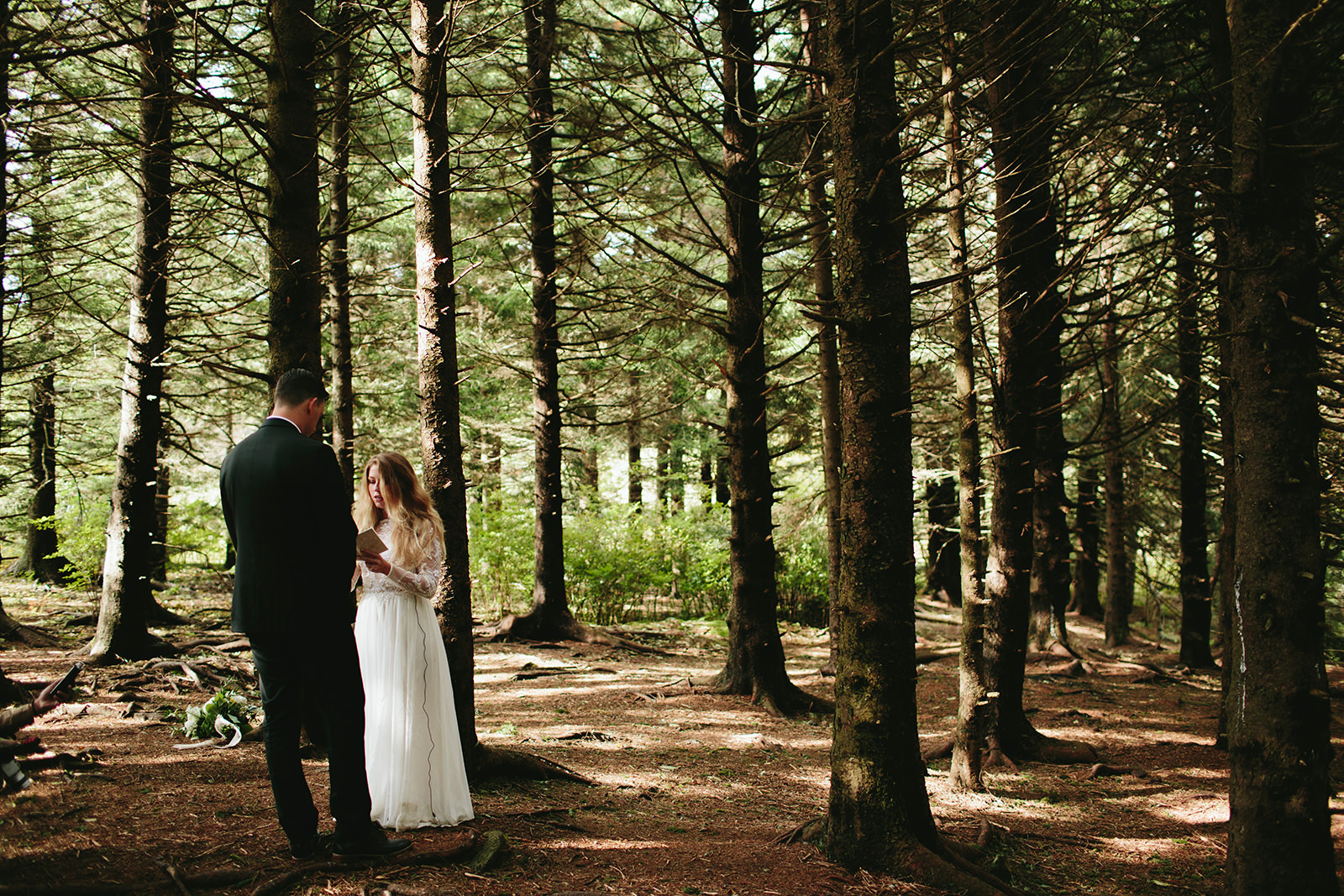 pine tree forest elopement asheville