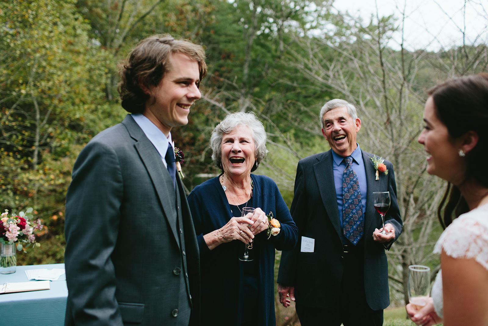 grandparents at wedding