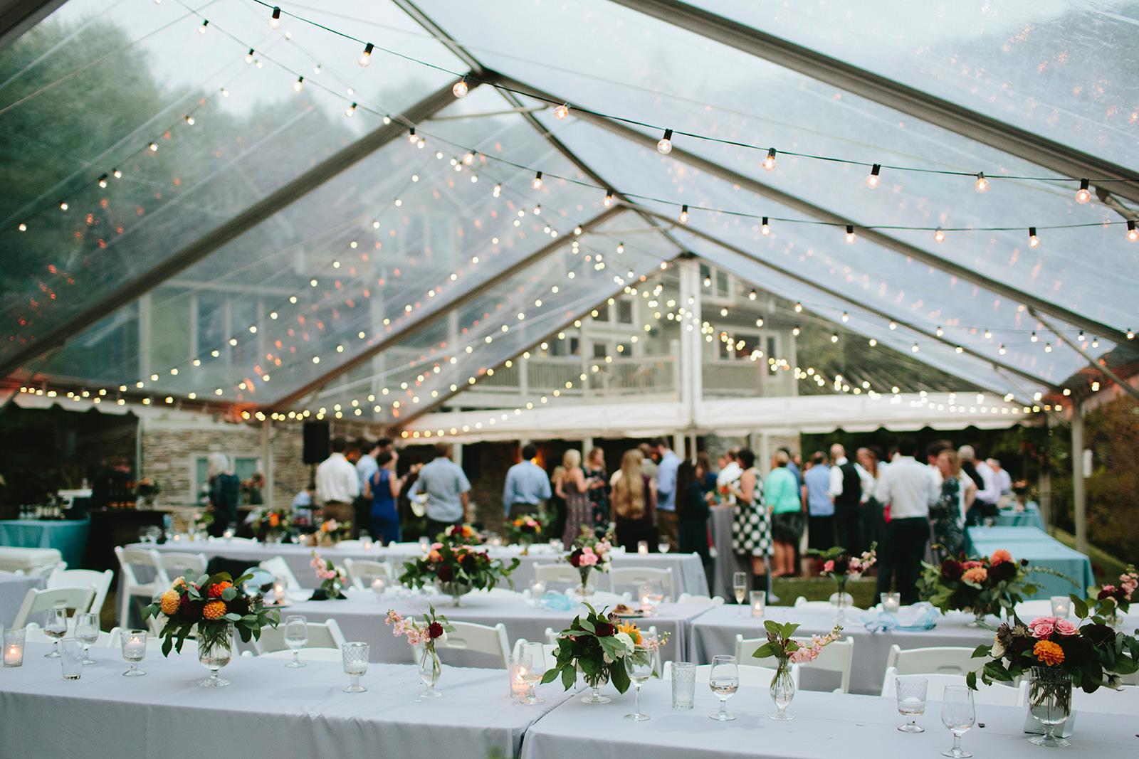 clear tent wedding ideas