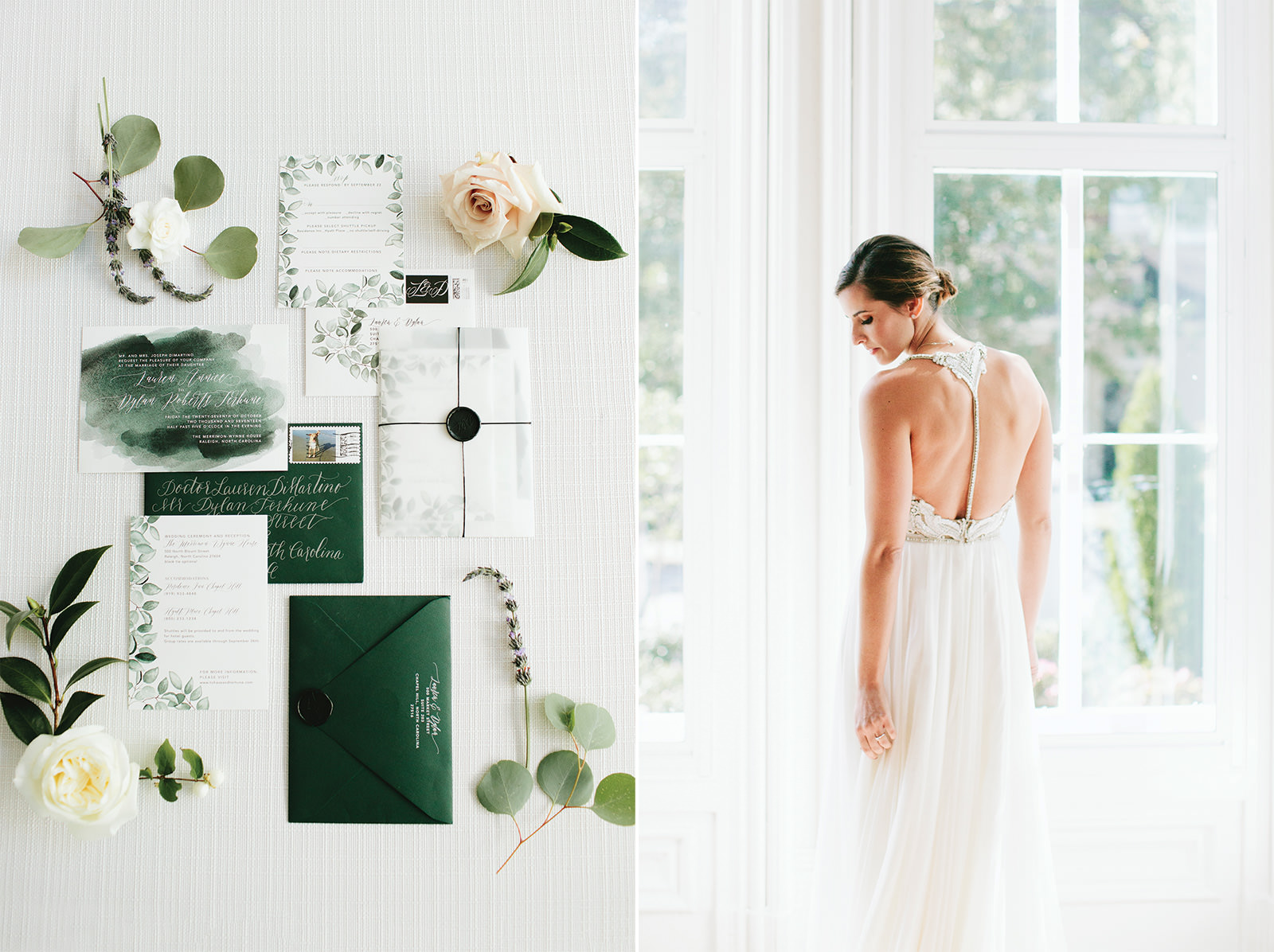 teal wedding suite