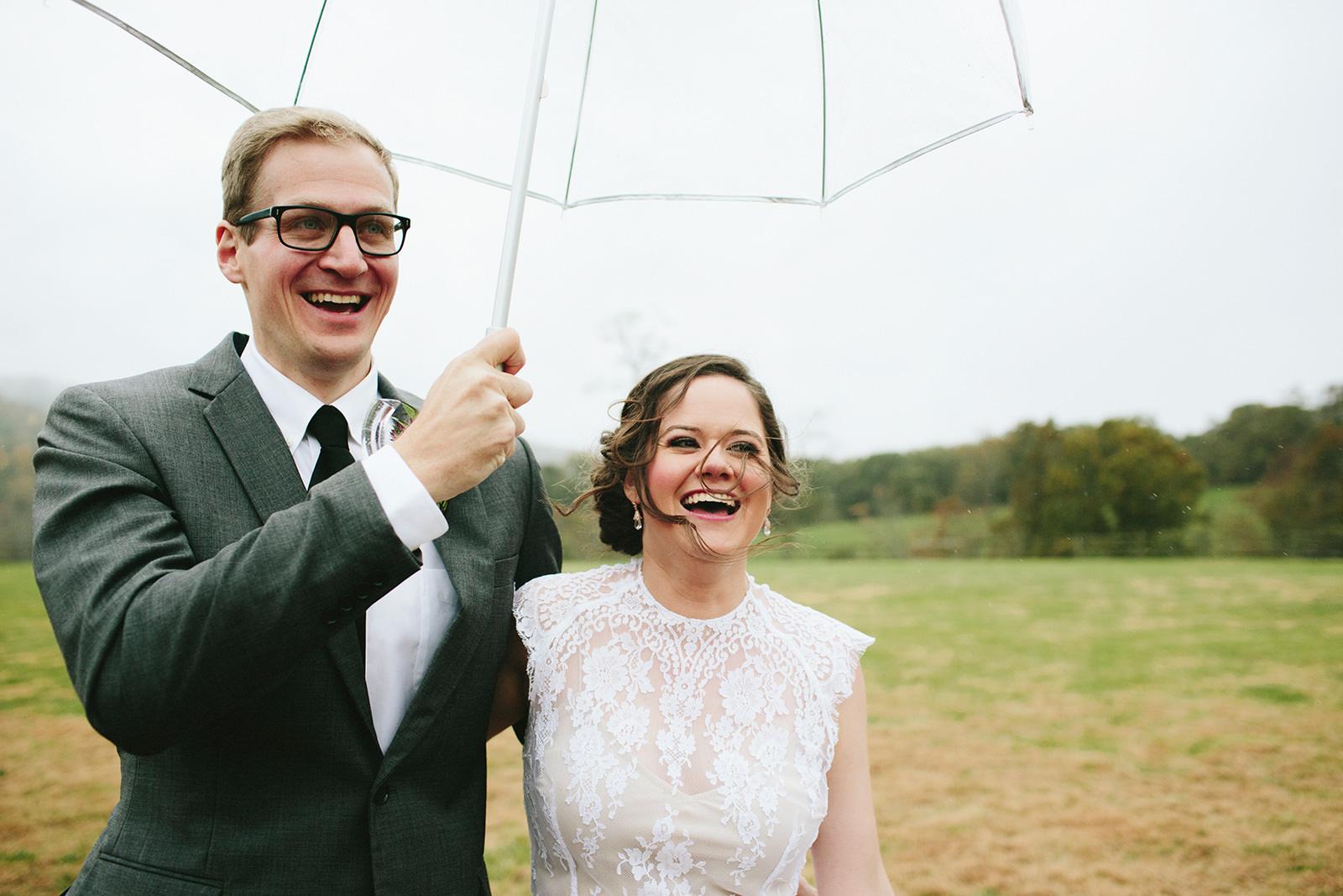 rainy day wedding asheville
