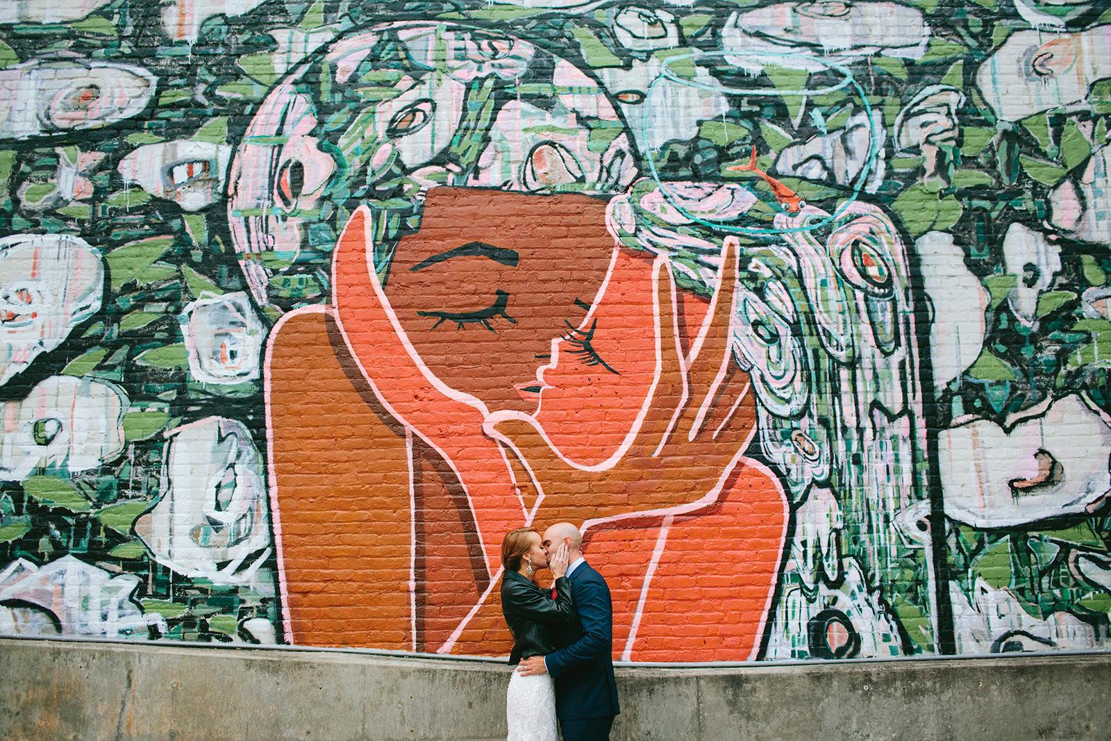wedding photos mural