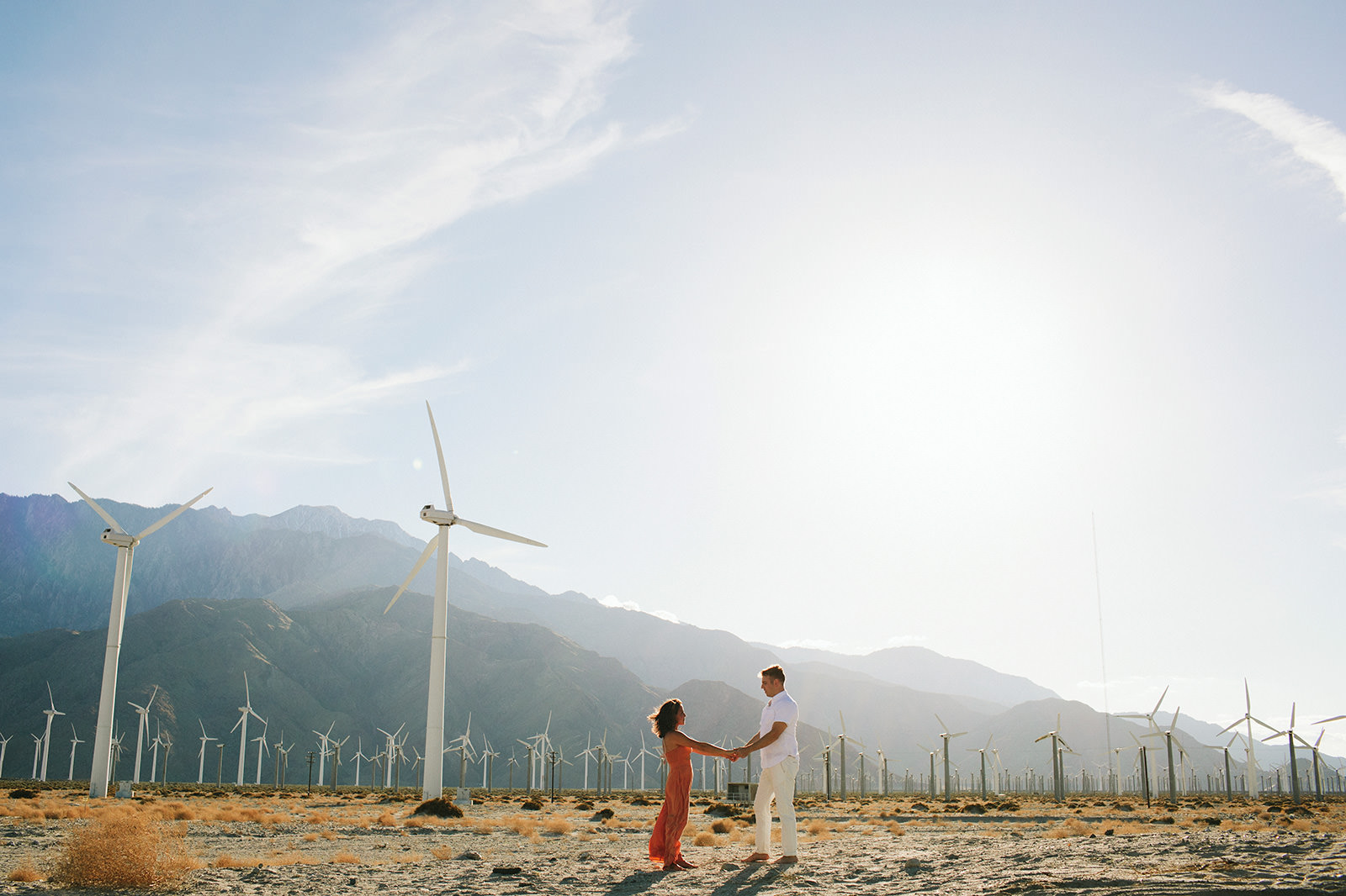 wind farm engagement photos