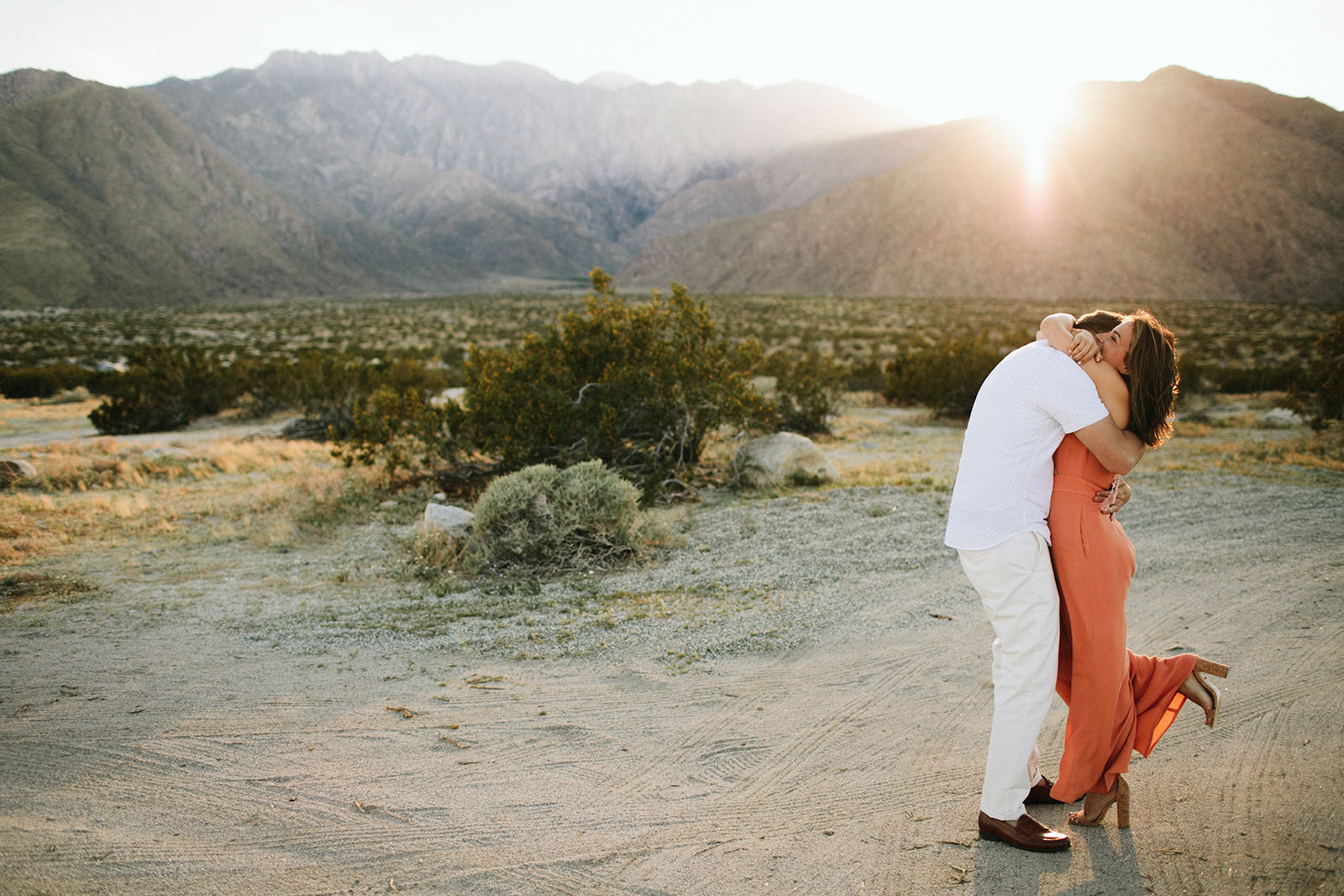 palm springs mountain engagement photos