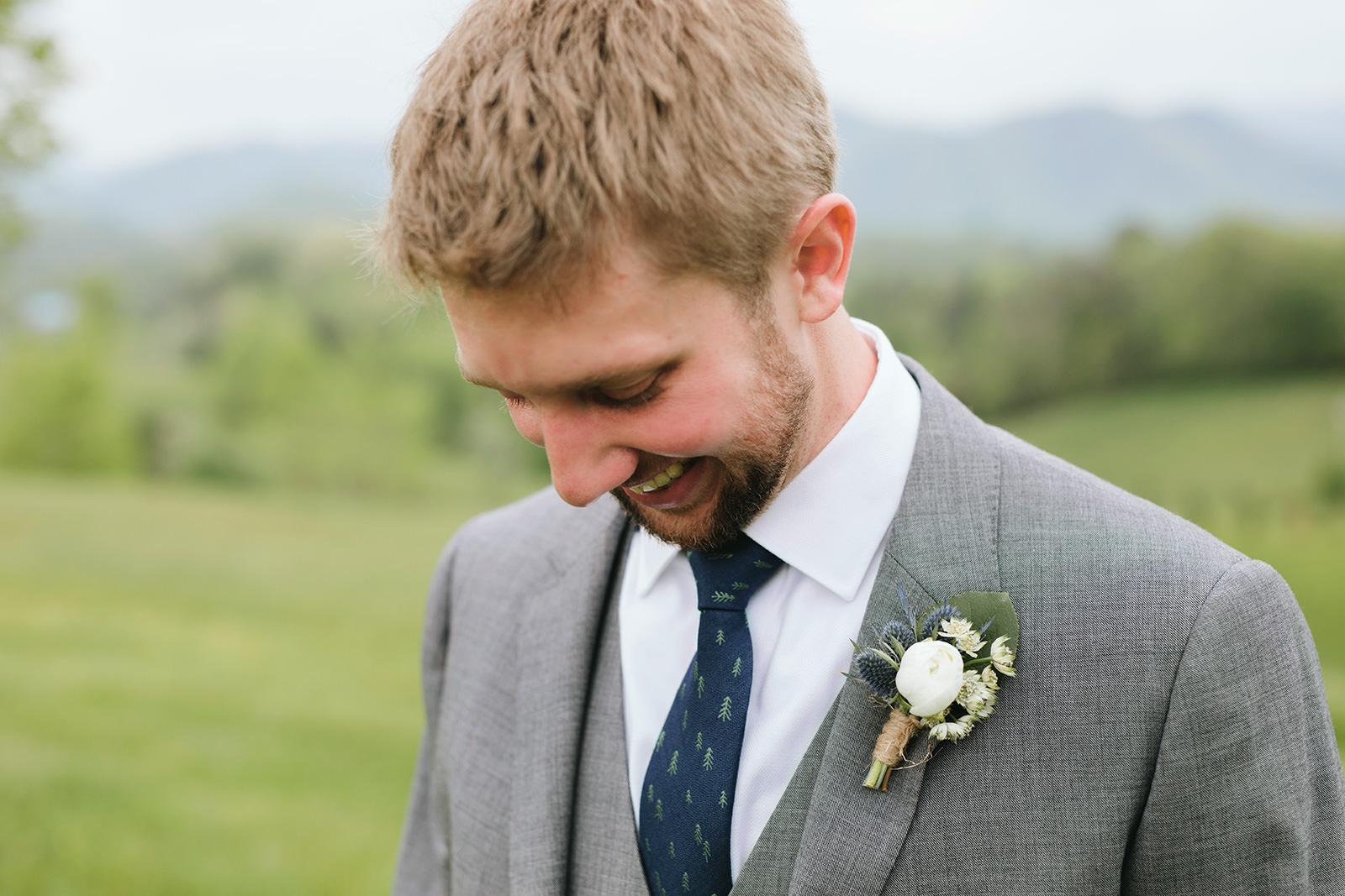 navy groom ties