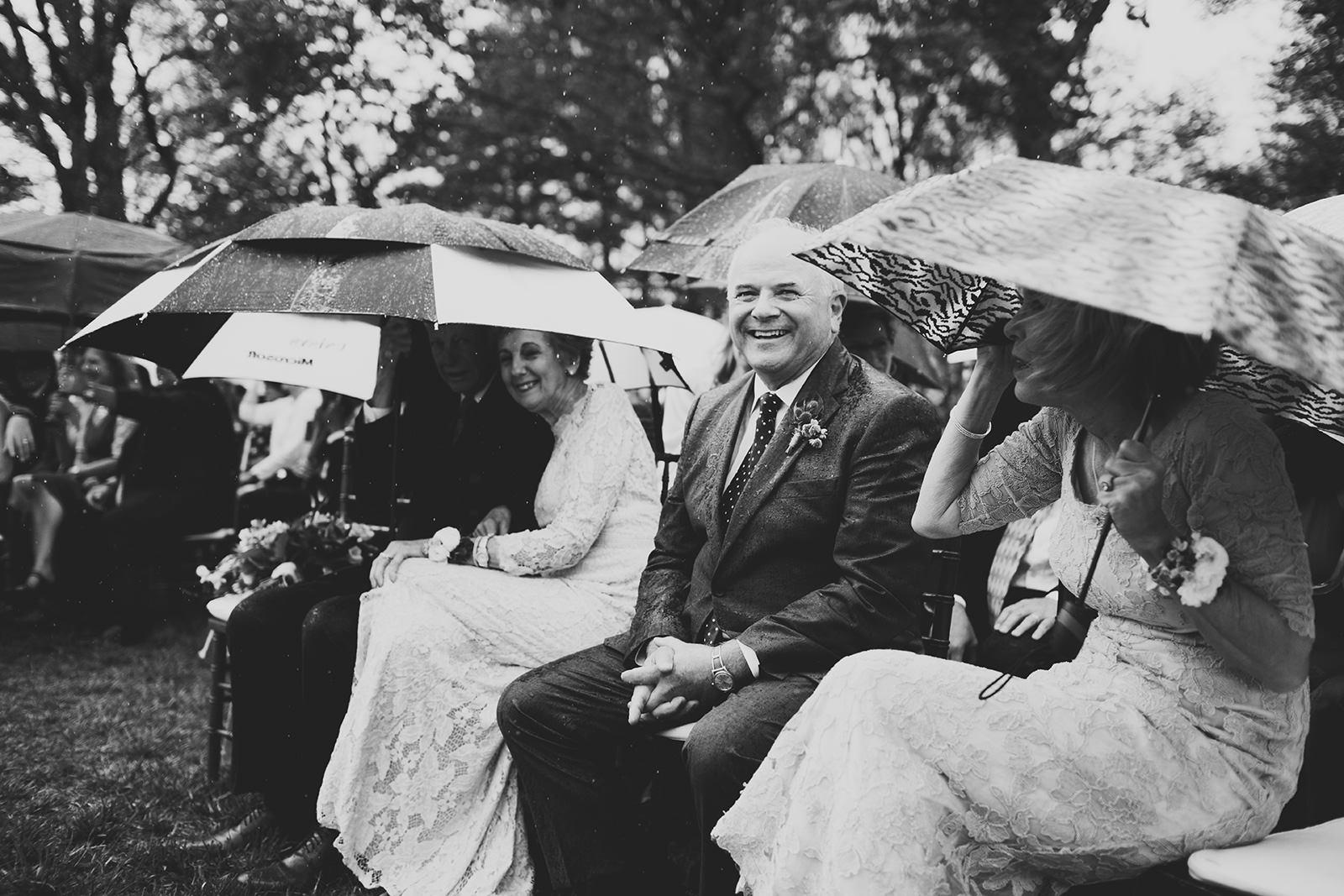 rainy day wedding photos asheville