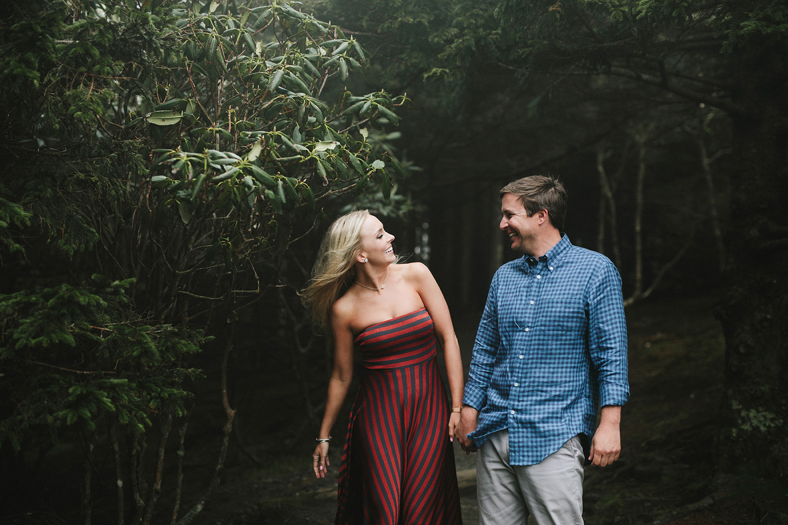 roan mountain engagement photos