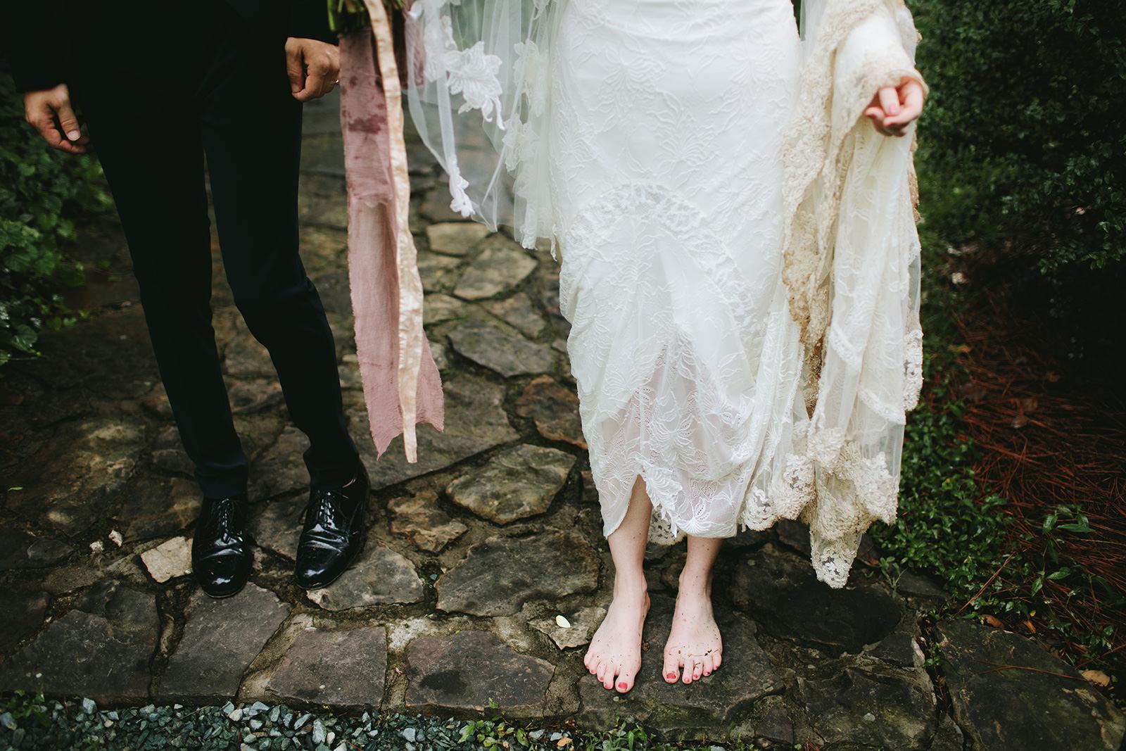 boho wedding photos asheville nc