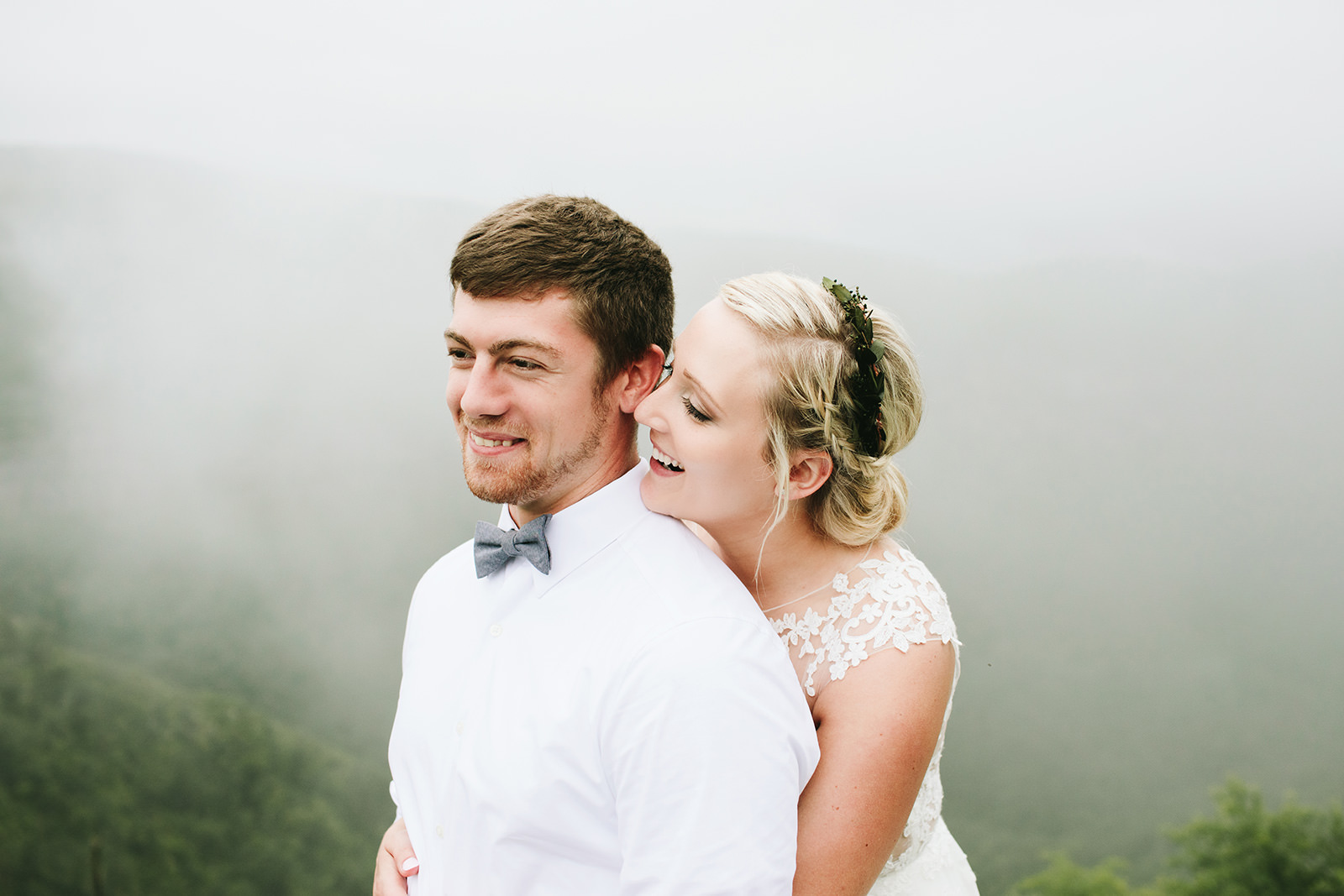 foggy wedding photos