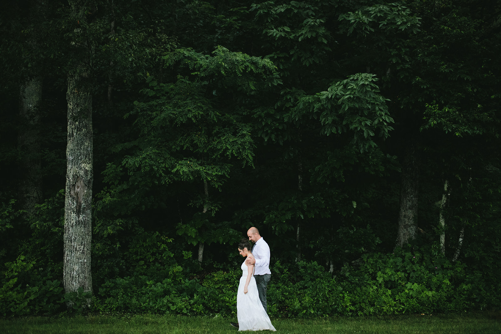 moody wedding portraits nc
