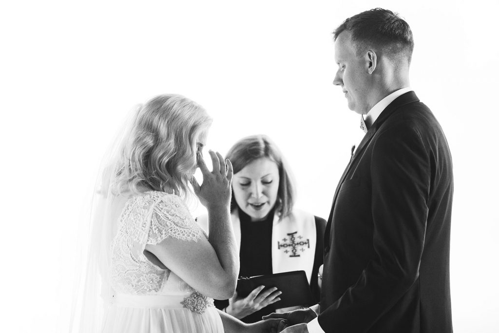 glassy chapel wedding