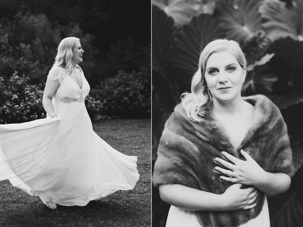 vintage bridal mink wrap