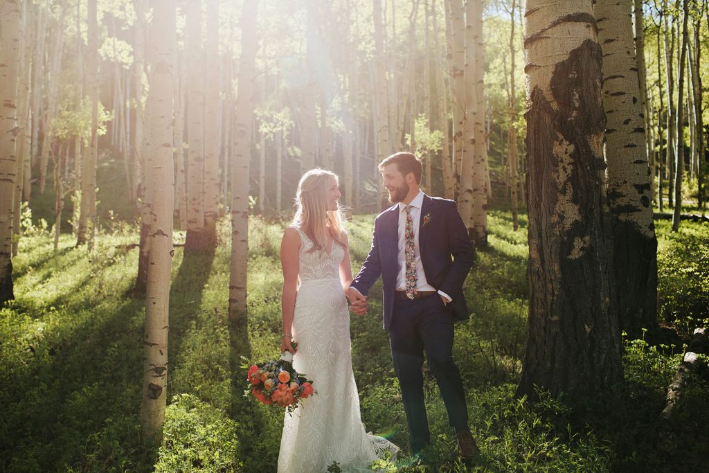 wedding photos aspen trees