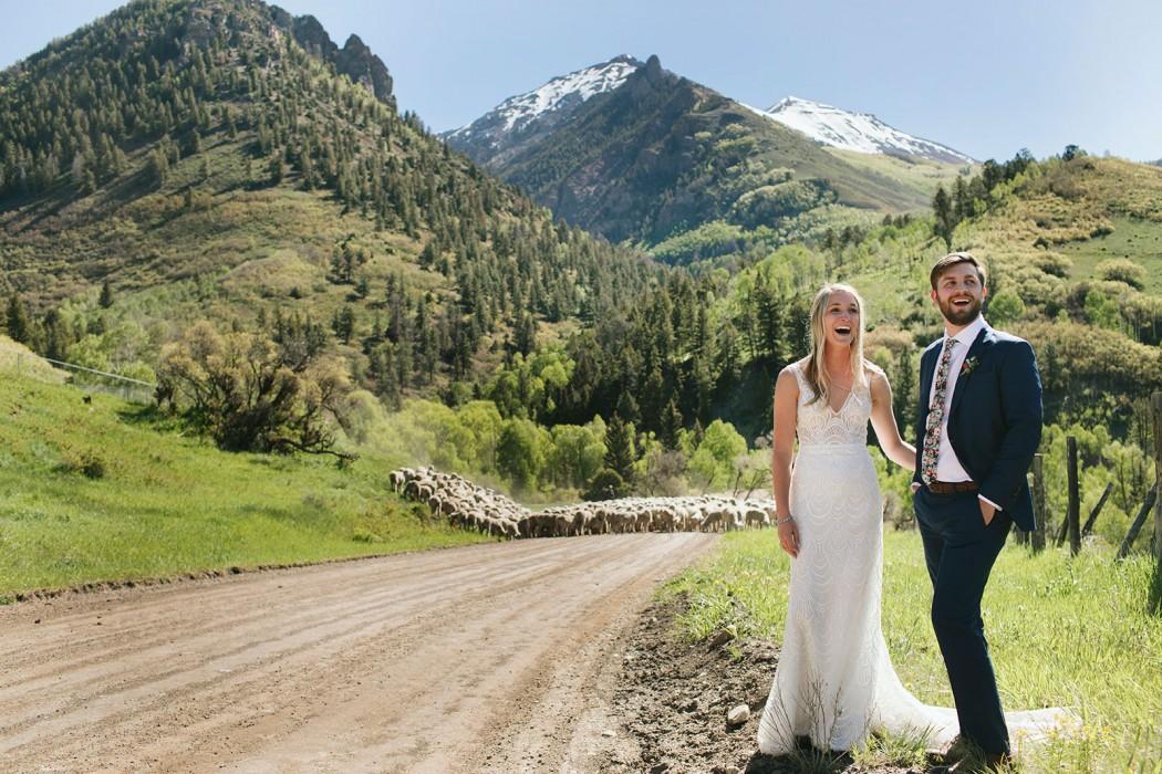 sheep herder wedding