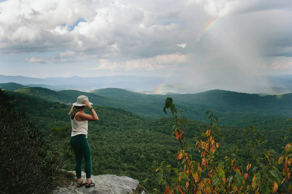 rainbow blue ridge mountains