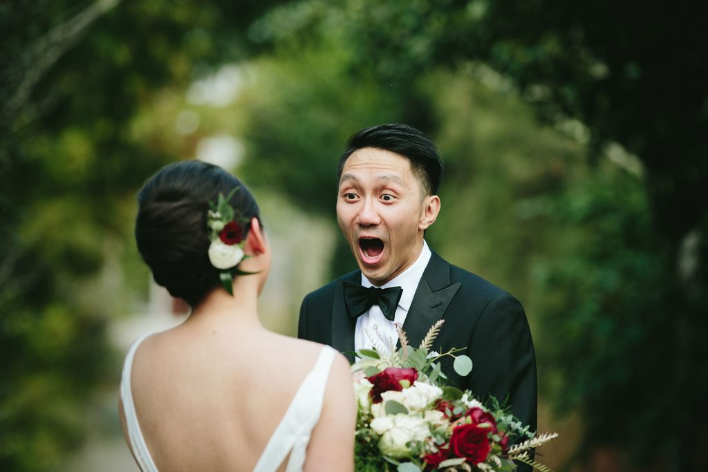 groom reaction first look