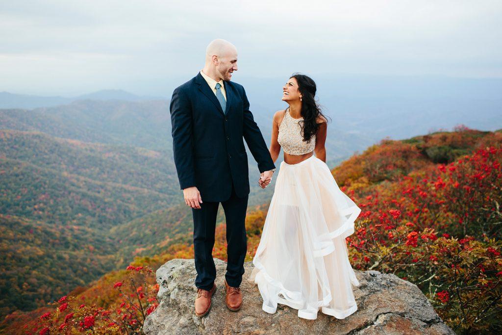 fall elopement at craggy gardens