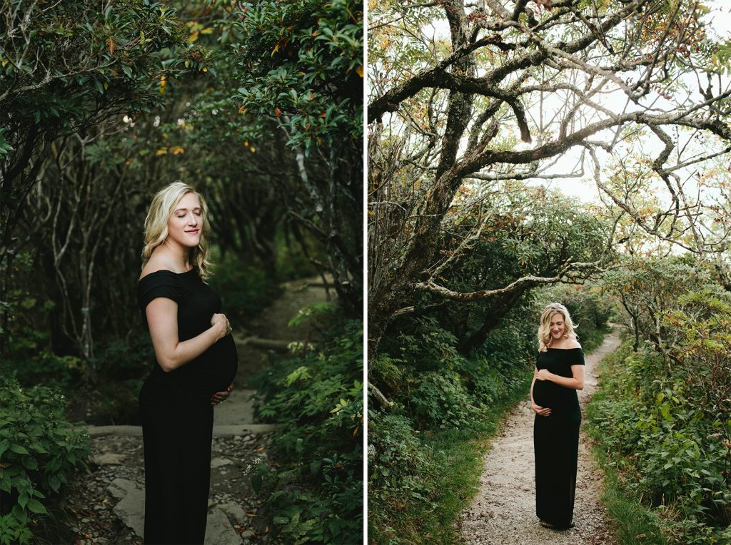 maternity photos at craggy gardens