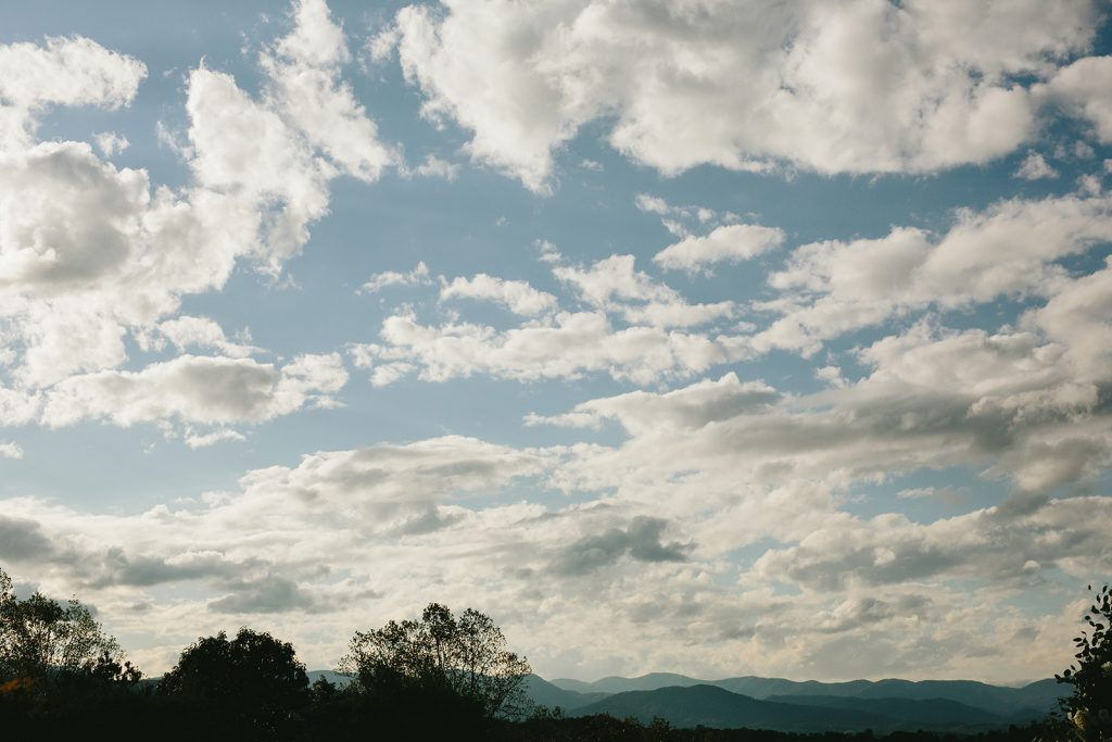 wedding venue in asheville with mountain views