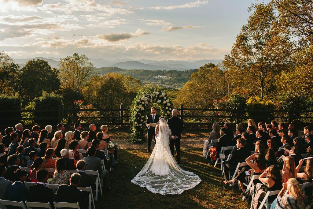 asheville outdoor wedding venue with views