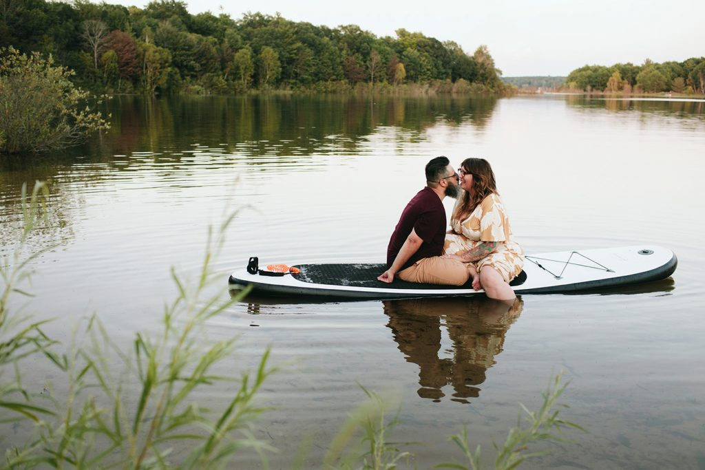 paddle board engagement photos michigan