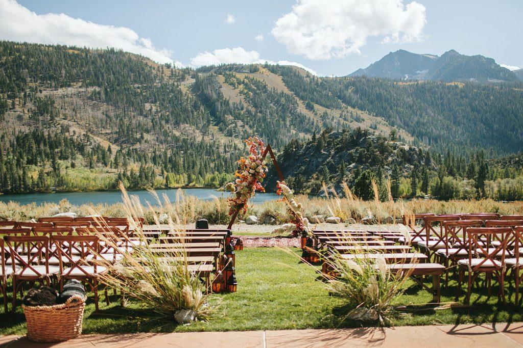 bohemian wedding decor mammoth lakes ca
