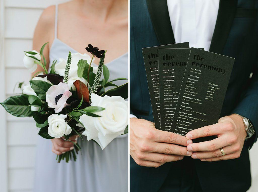 black on black wedding invitations