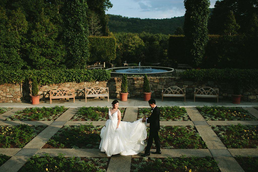 nc arboretum elopement photos