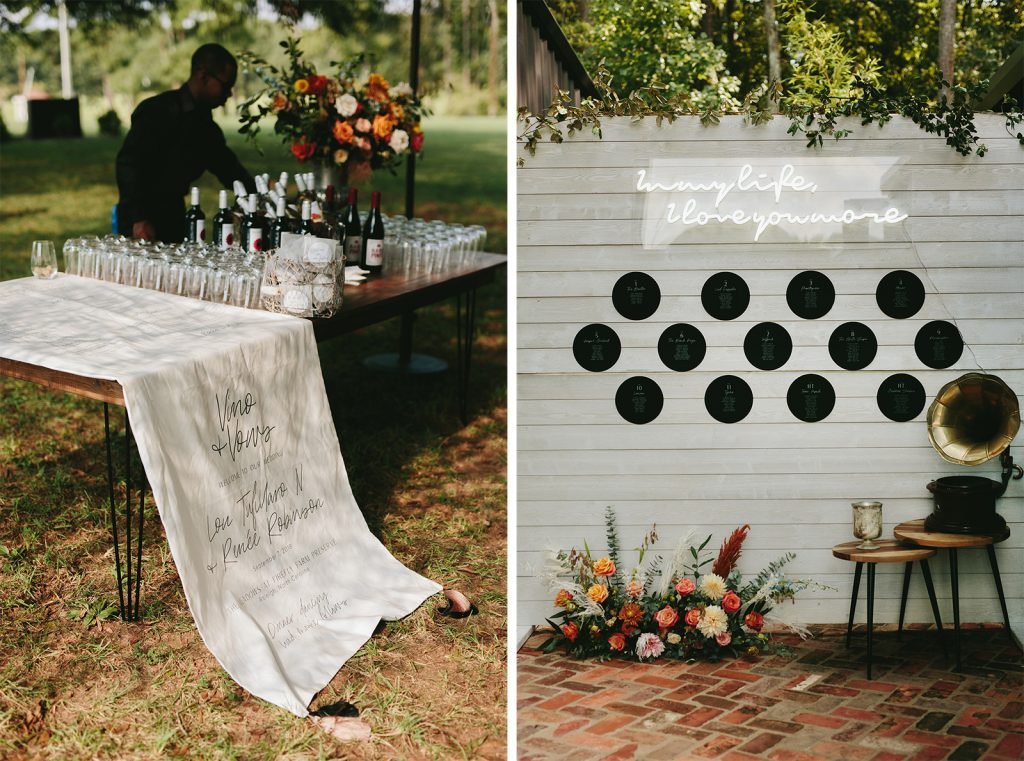 vinyl music wedding decor