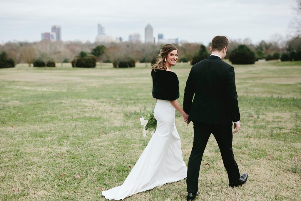 winter wedding in raleigh