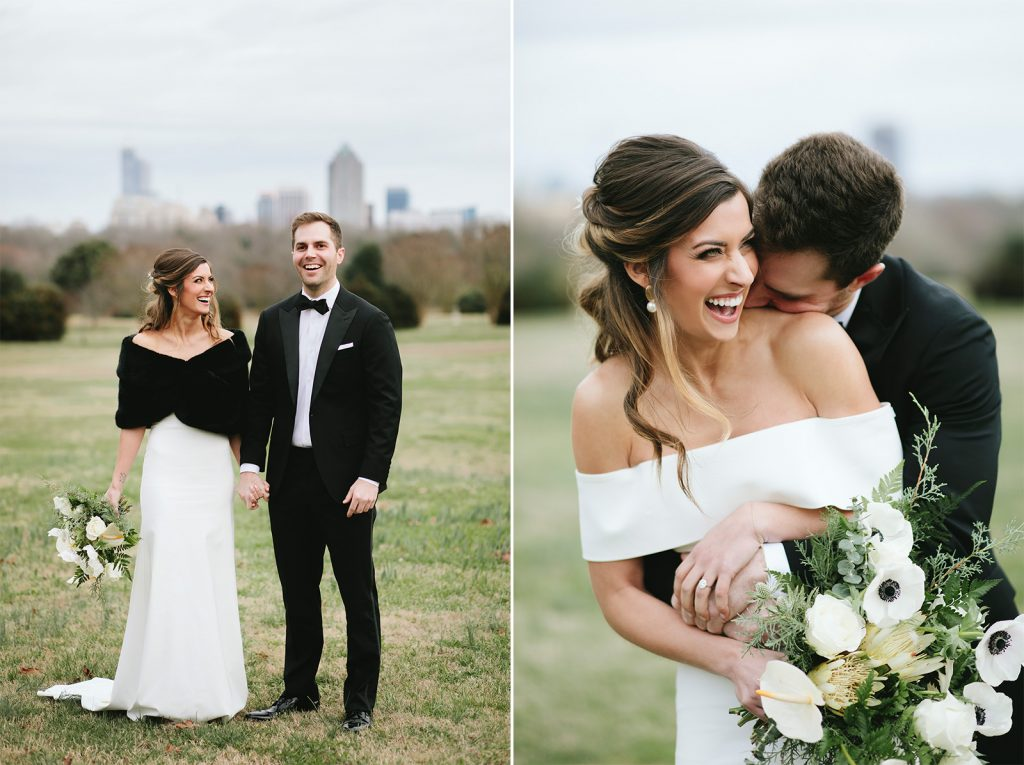 modern white wedding in Raleigh