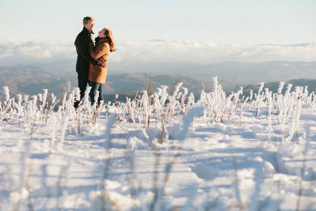 winter mountain photos asheville