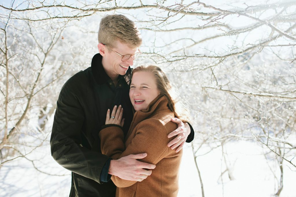 engagement photos at roan in February