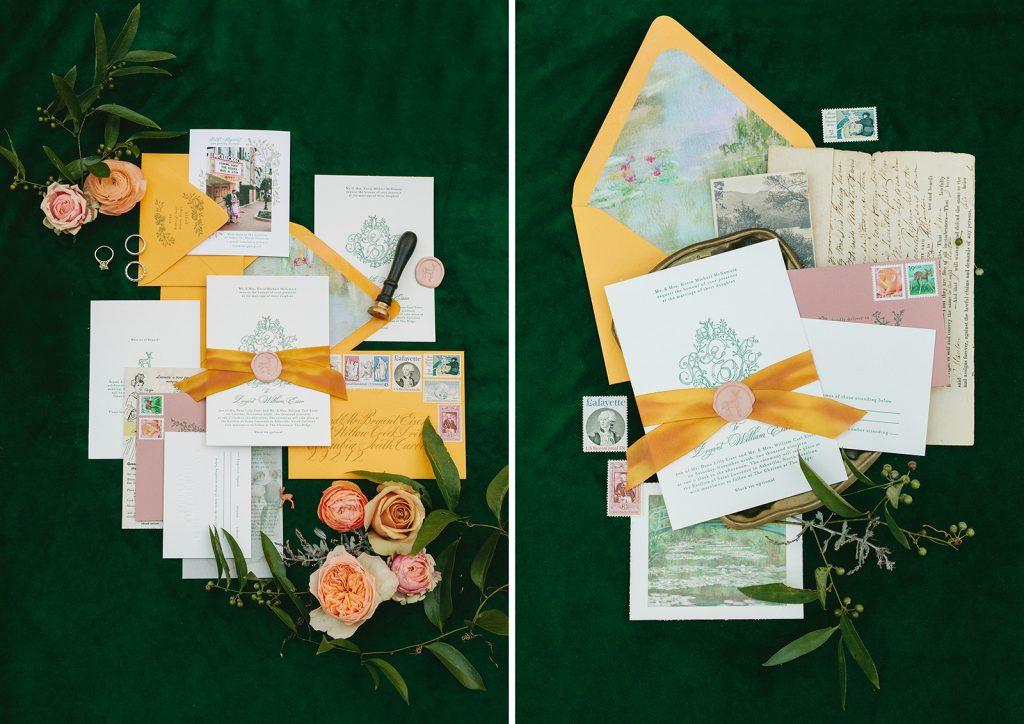 monet inspired wedding invitations