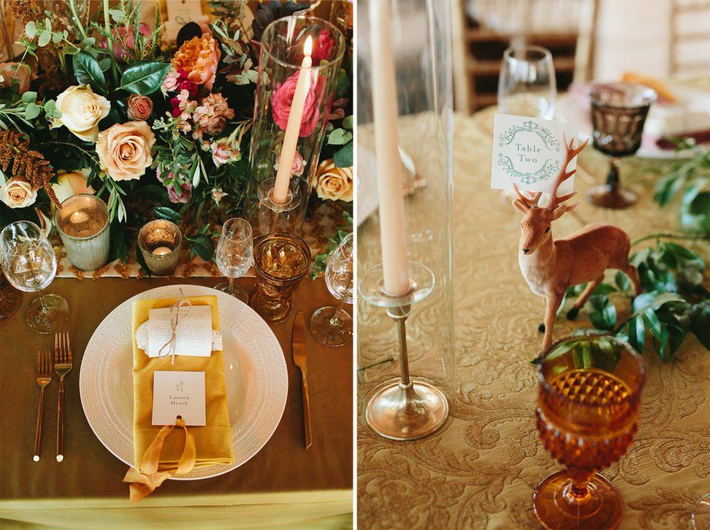 woodland themed wedding photos