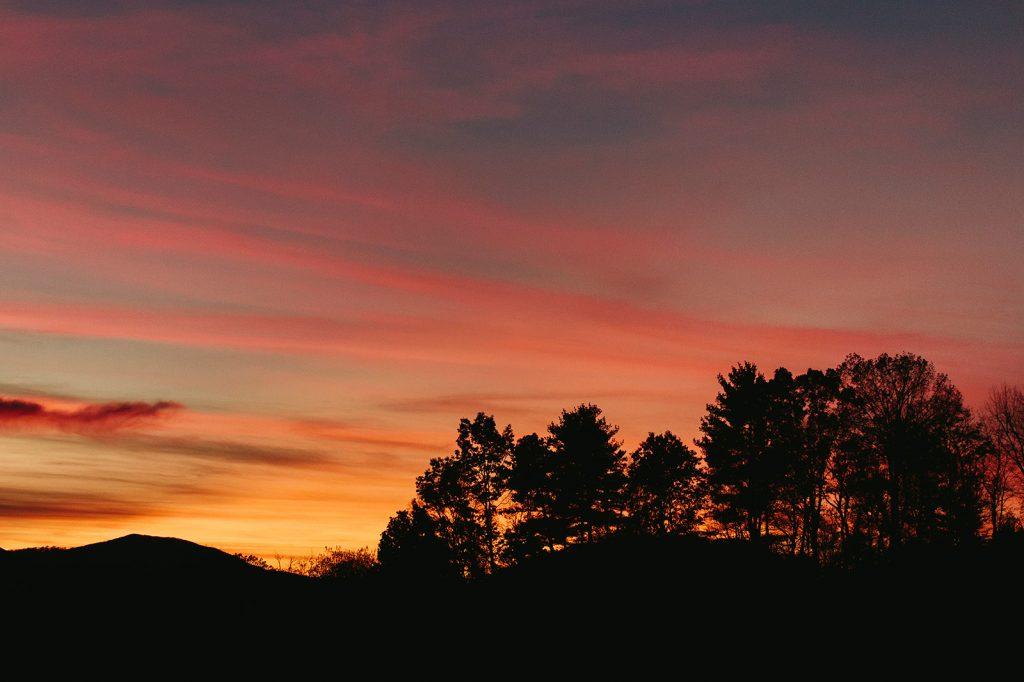 the ridge asheville sunset