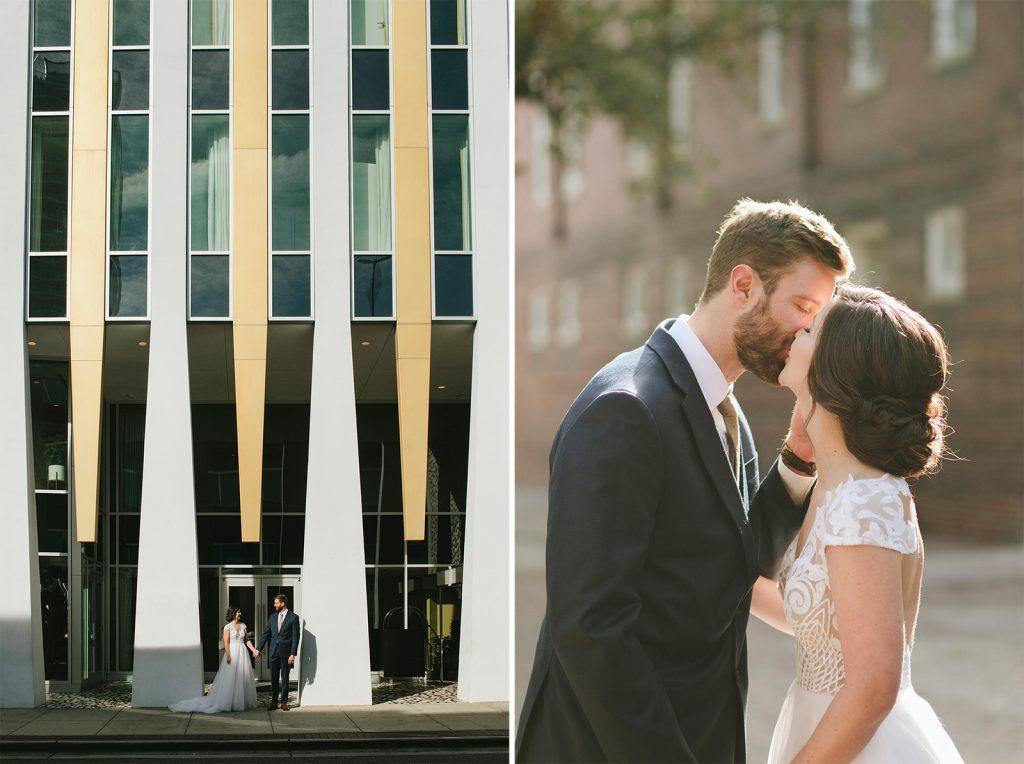 mid century wedding durham hotel photos