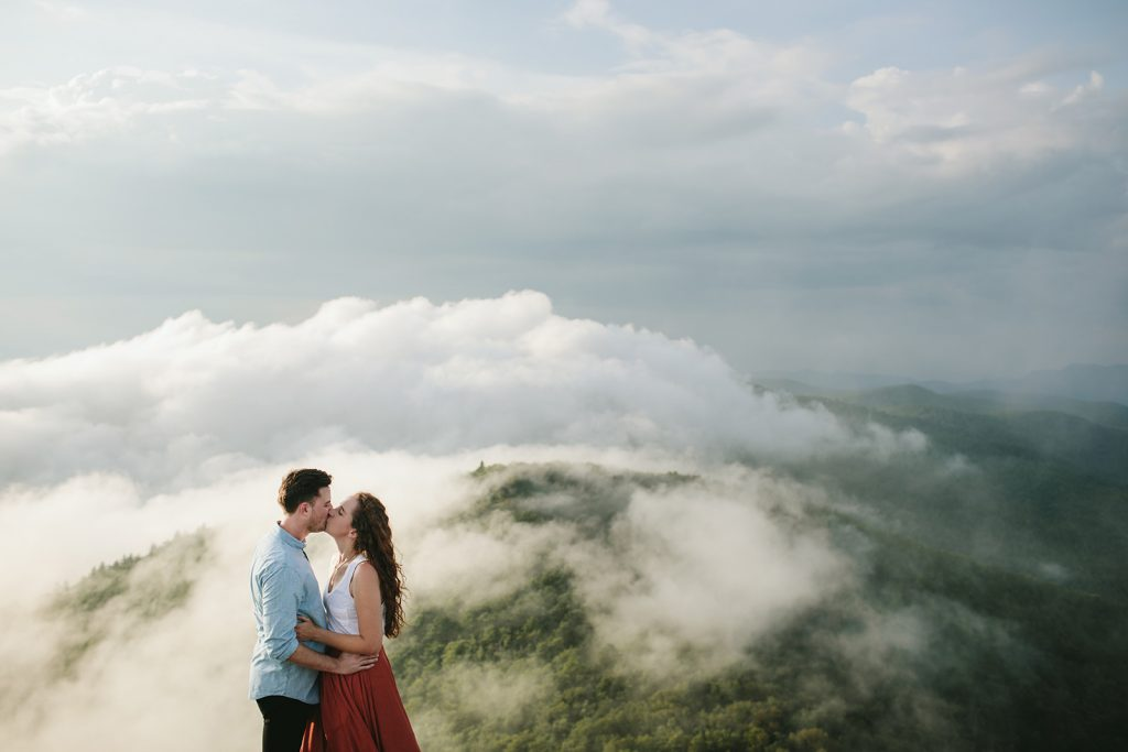 boho engagement session in asheville