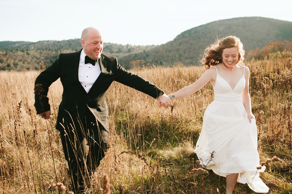 fall elopement photos in asheville