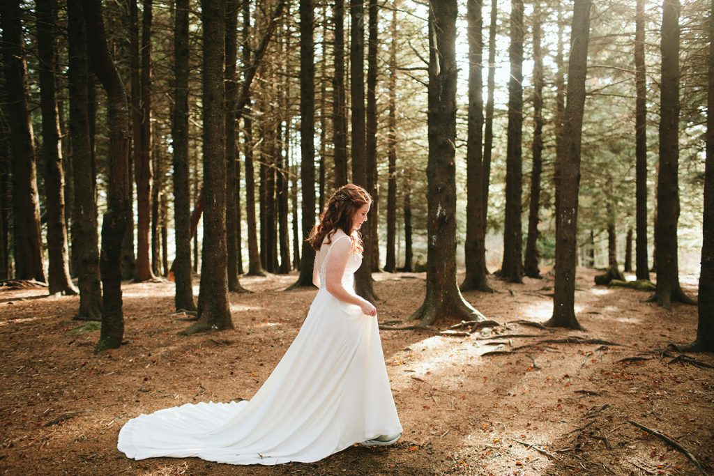 wooded location for elopement asheville