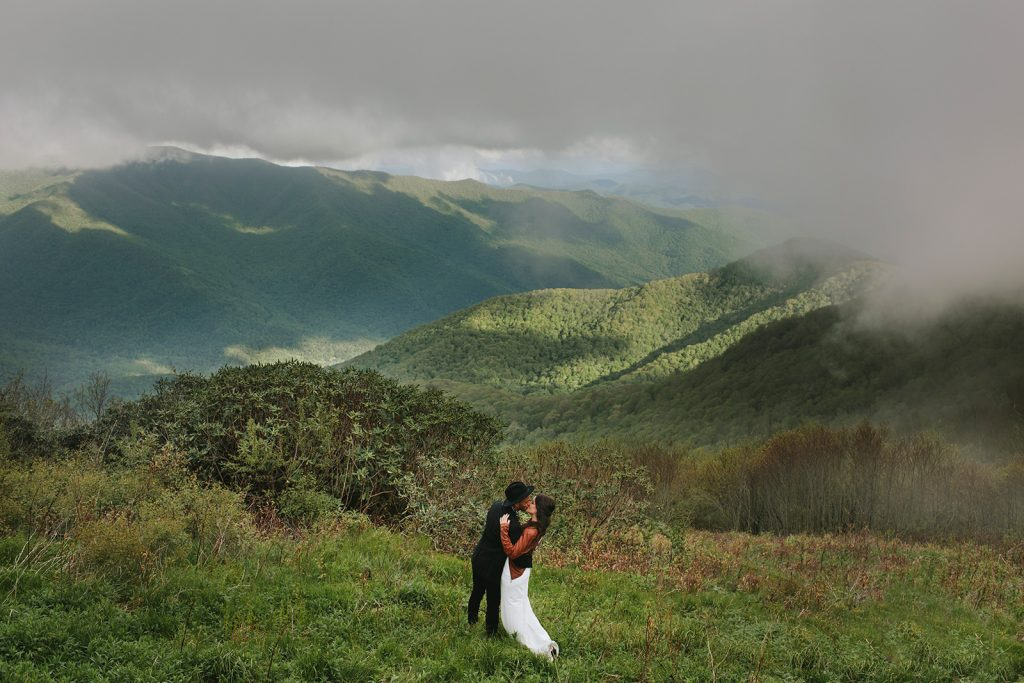 asheville elopement with views