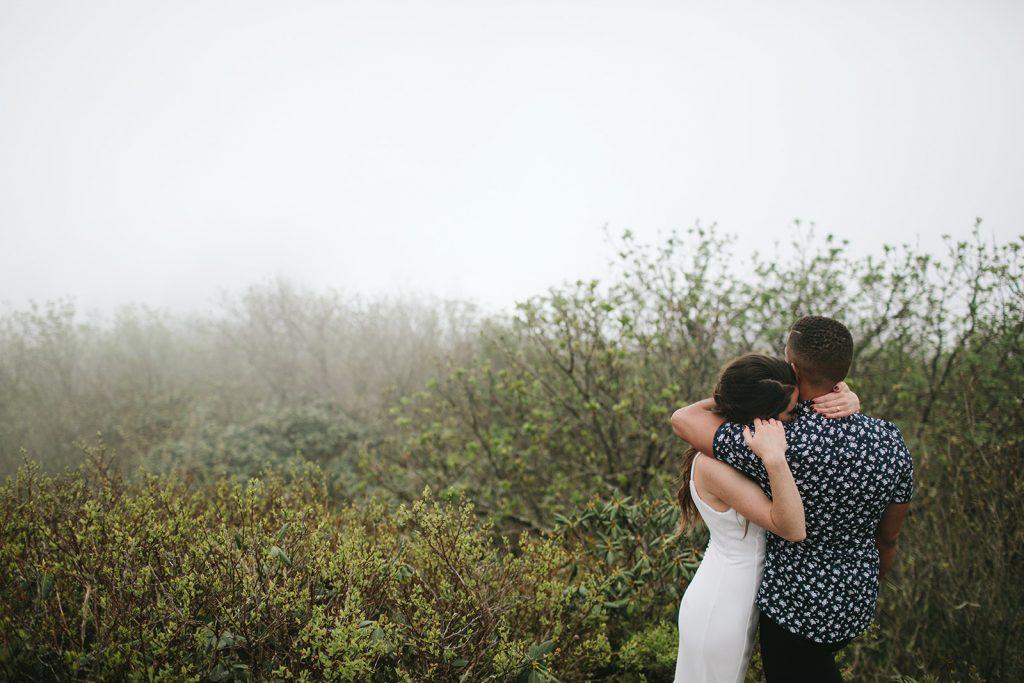 moody wedding photos asheville