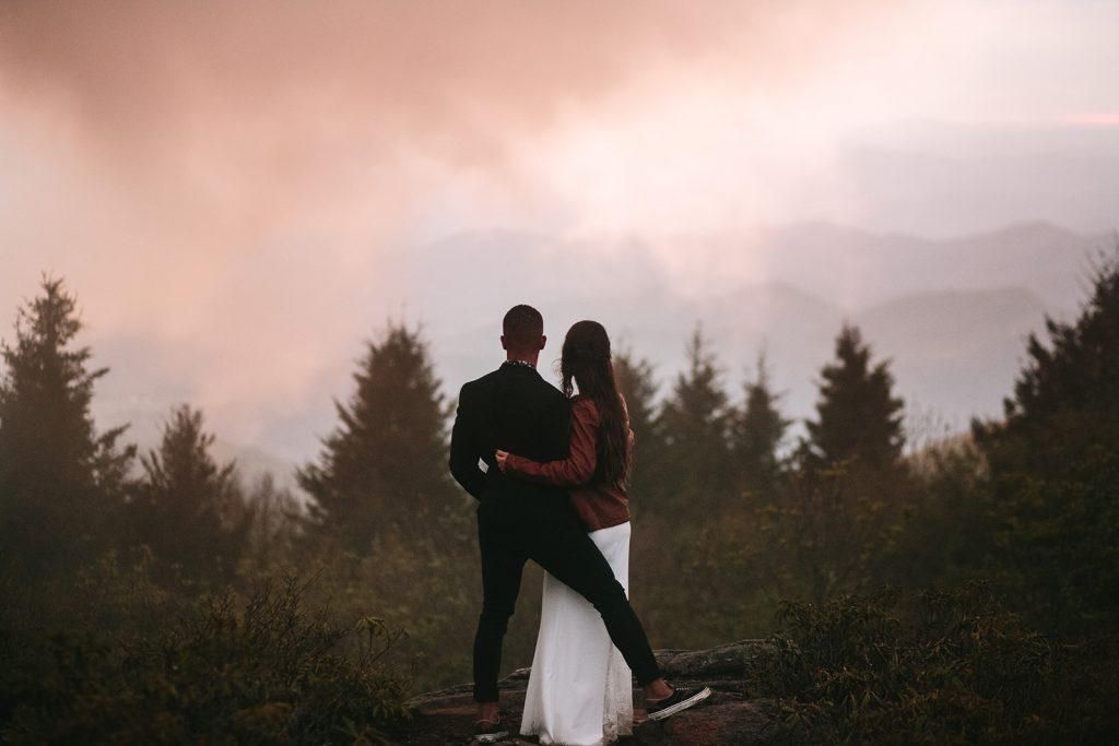 foggy asheville elopement