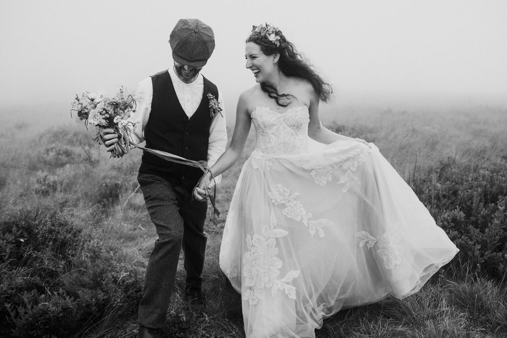 foggy elopement in asheville